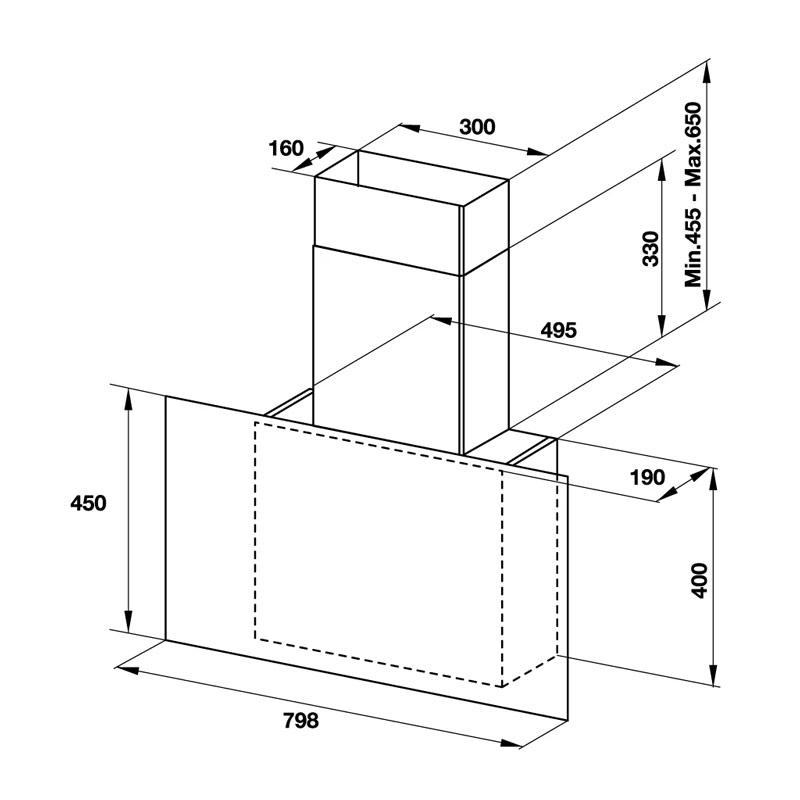 Kích thước MÁY HÚT MÙI HAFELE HH-WVG80E 533.86.018