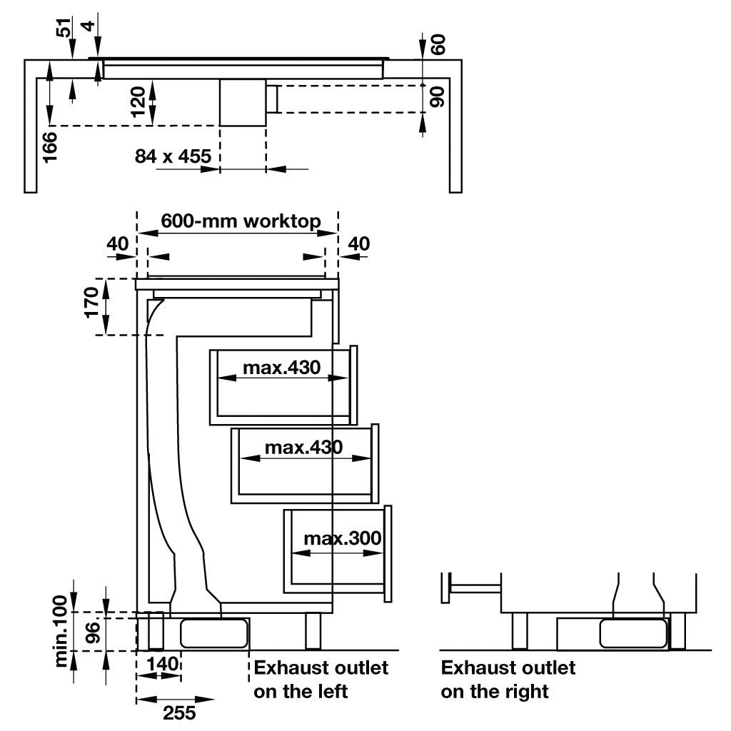 Kích thước bếp điện từ kết hợp hút mùi Hafele HC-IHH80A 539.66.698