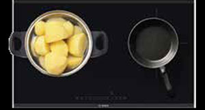bếp từ Bosch PXE801DC1E tự nhận diện nồi