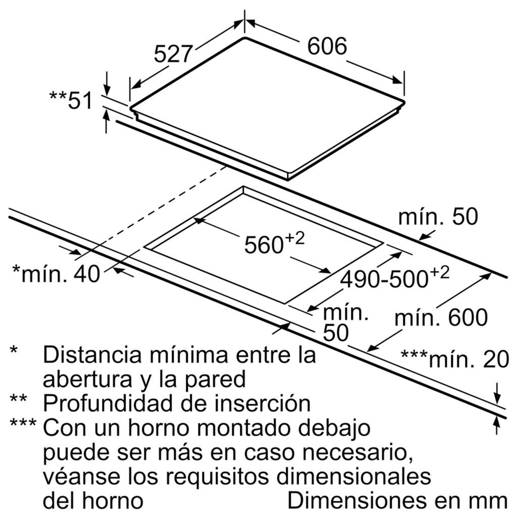 Kích thước Bếp từ Bosch PID651DC5E
