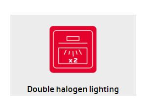 Lò nướng Hafele đèn Halogen chiếu sáng