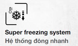 Tủ lạnh hafele hệ thống làm đông nhanh