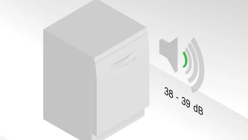 Bosch SMS6ECW57E Super Silence Pro 38 dB