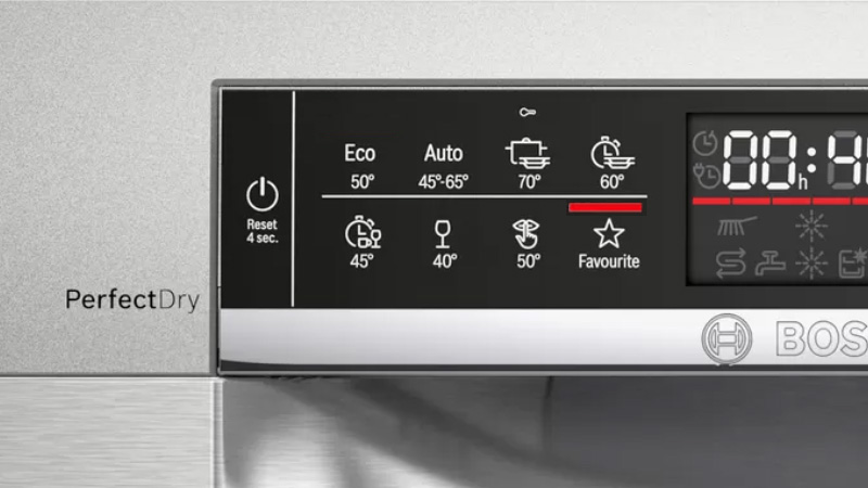 Máy rửa bát Bosch SMS6ECW57E Favourite programme