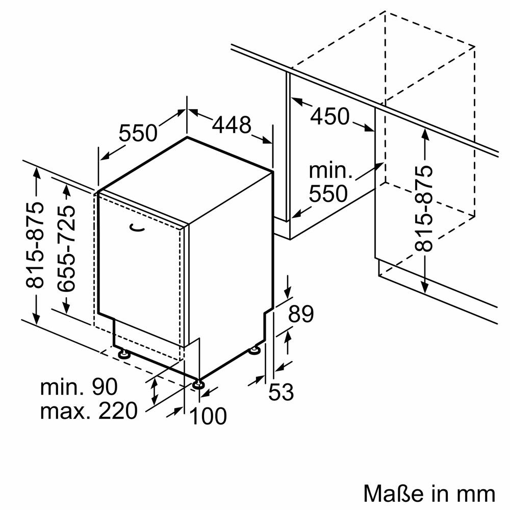 Kích thước MÁY RỬA BÁT BOSCH SPV6YMX11E