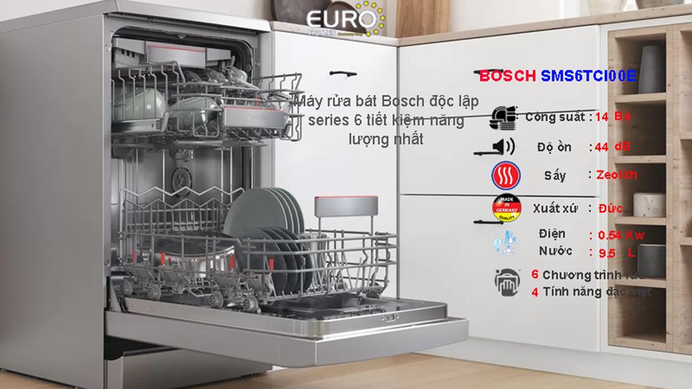 Máy rửa bát Bosch series 6 SMS6TCI00E