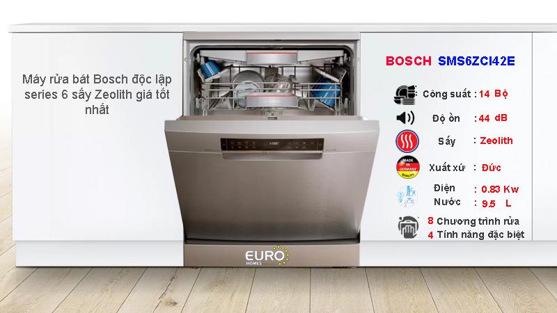 Máy rửa bát Bosch series 6 SMS6ZCI42E