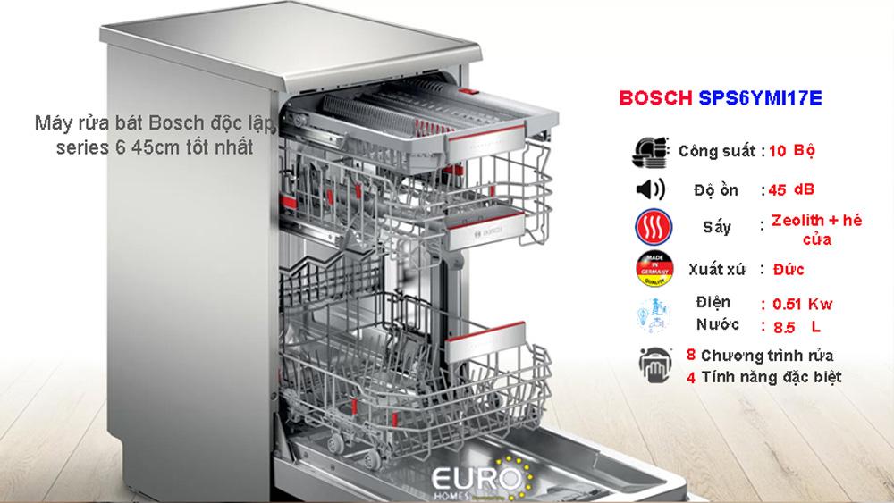 Máy rửa bát Bosch series 6 SPSY6MI17E
